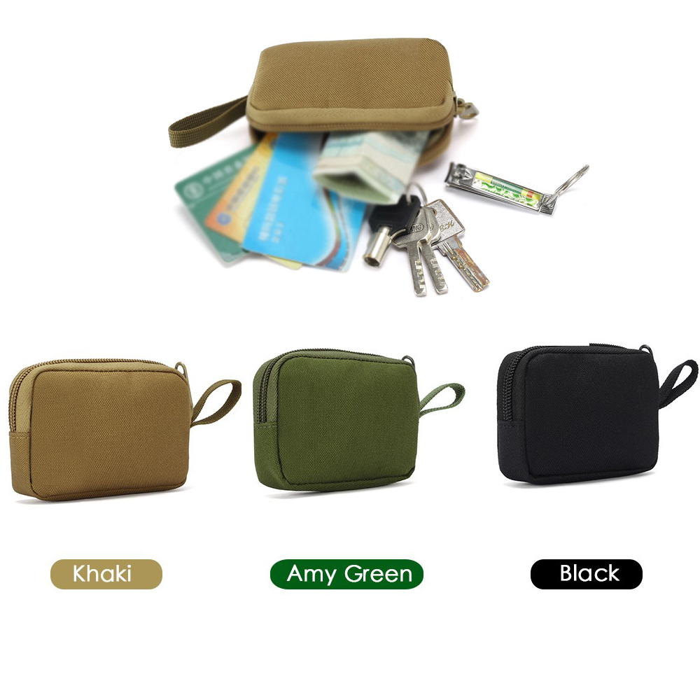 Tactical 900D Pouch Camping Portable Storage Bag Army Fans Keychain Holder Case Waist Pack Tactical EDC Purse Wallets Pouch Bag