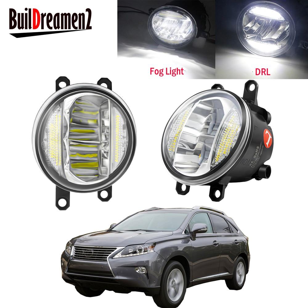 2in1 araba ön tampon LED sis işık meclisi DRL gündüz koşu lambası 30W H11 12V Lexus RX350 RX450h 2010 2011 2012 2013