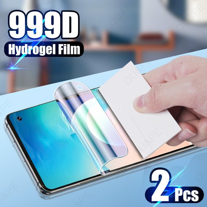 2Pcs Hidrogel Film Protector de Ecrã Para Samsung Galaxy S10 S20 FE S9 S8 S7 Plus Nota 10 20 9 8 A50 A51 A71 A70 Película Protetora