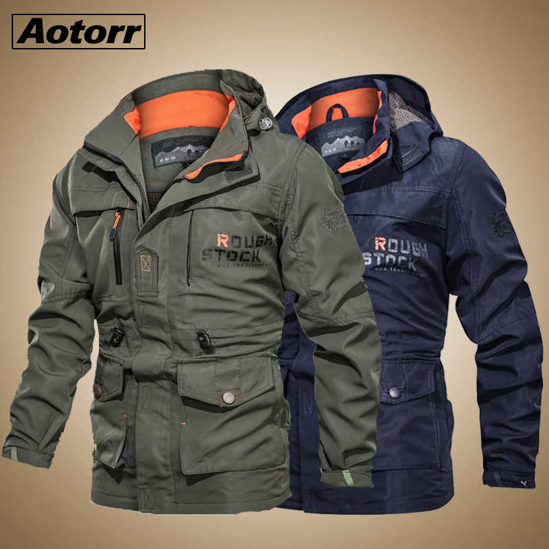 2020 Bomber Jas Mannen Herfst Winter Multi-Pocket Waterdichte Militaire Tactische Jas Windjack Mannen Parka Outdoor Stormwear