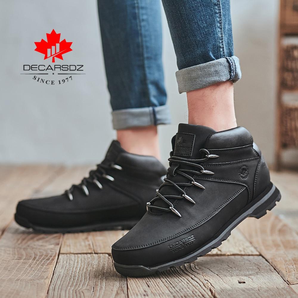 DECARSDZ Men Casual Boots 2021 New Men Fashion Shoes Man Brand Lace-up Winter Boots Men winter Boot Shoes Man Shoes Men's Boots 6