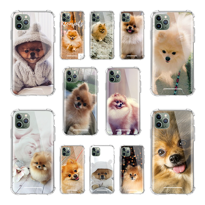 Cute Pomeranian Dogs Dog Case For Apple iPhone 11 Pro Max XS X XR SE 2020 8 7 6 6S Plus Airbag Anti Fall TPU Phone Covers