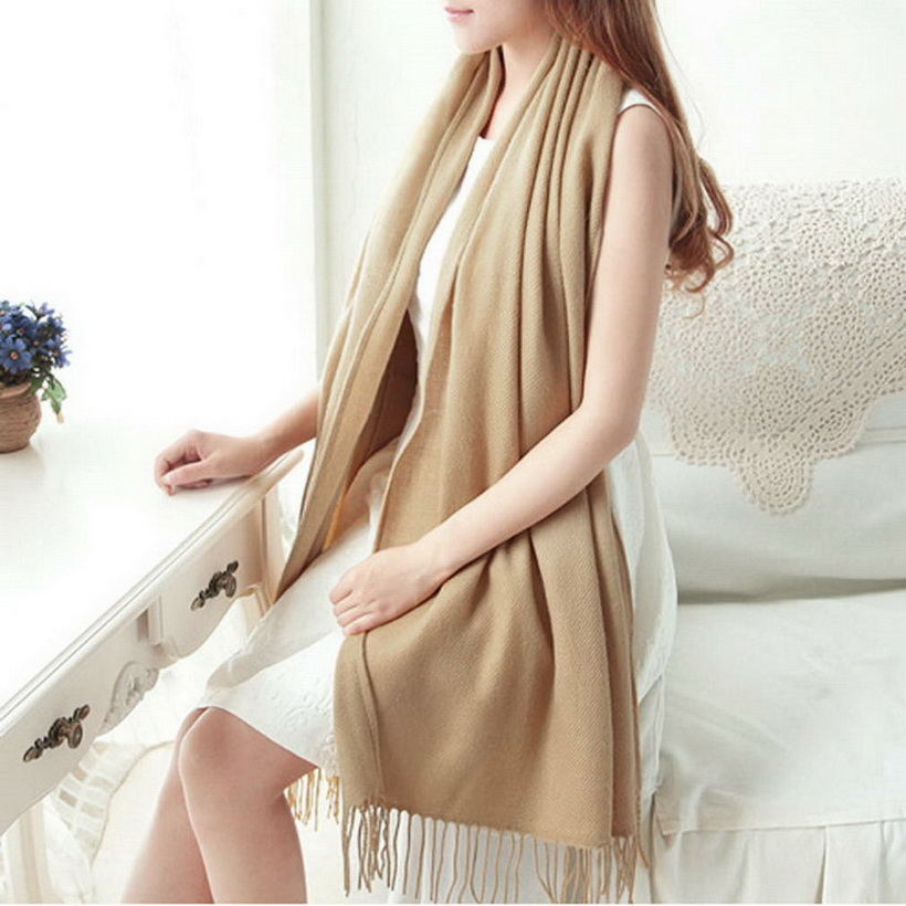 Winter Oversize Scarves Simple Fashion Warm Blanket Unisex Solid Wrap Cashmere Scarf Shawl Pashmina For Women Men