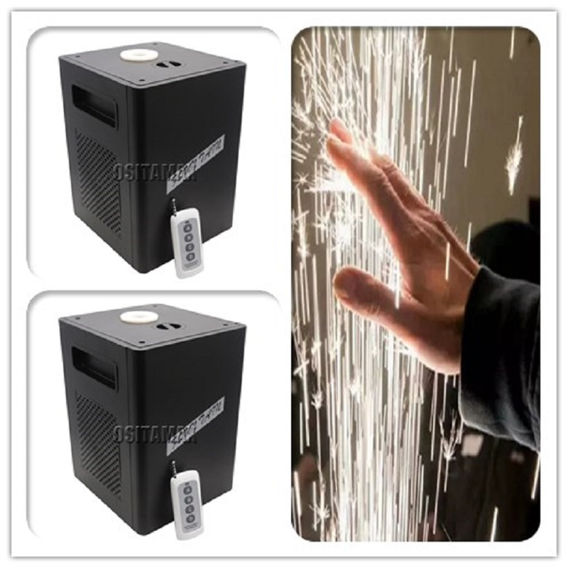 Free Shipping Fireworks Machine 400W Cold Spark Wedding Flame Fountain DMX And Remote Control Sparkly Machine