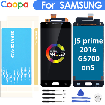 5.5 LCD AMOLED FOR SAMSUNG Galaxy  J5 prime G570F G570 SM-G570F LCD Display for J5P Touch Screen Digitizer Assembly Replacement lcd display for samsung galaxy j5 prime g570 g570f g570m on5 2016 touch screen digitizer assembly replacement parts 5 0