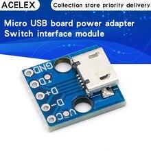 10 pièces CJMCU Micro USB carte adaptateur d'alimentation 5V commutateur de rupture Module d'interface