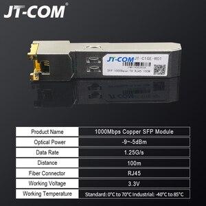 Image 2 - جيجابت RJ45 SFP وحدة 1000Mbps SFP النحاس RJ45 SFP مثبت جهاز إرسال واستقبال متوافق مع سيسكو/Mikrotik جيجابت محول ايثرنت