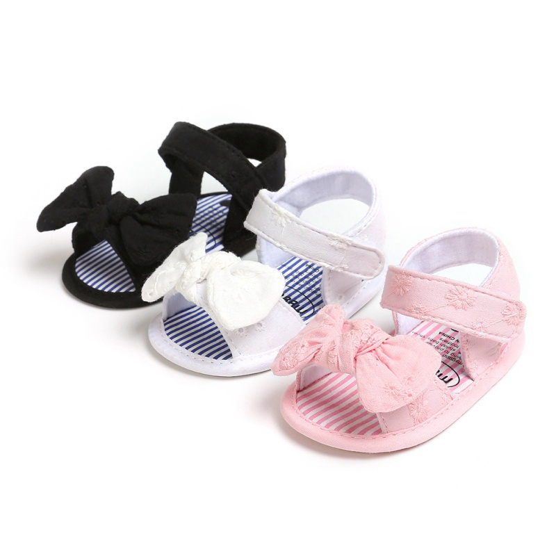 Fashion Summer Baby Girls Shoes Breathable Anti-Slip Bow Sandals Toddler Girl Soft Soled First Walkers Shoes 0-18M