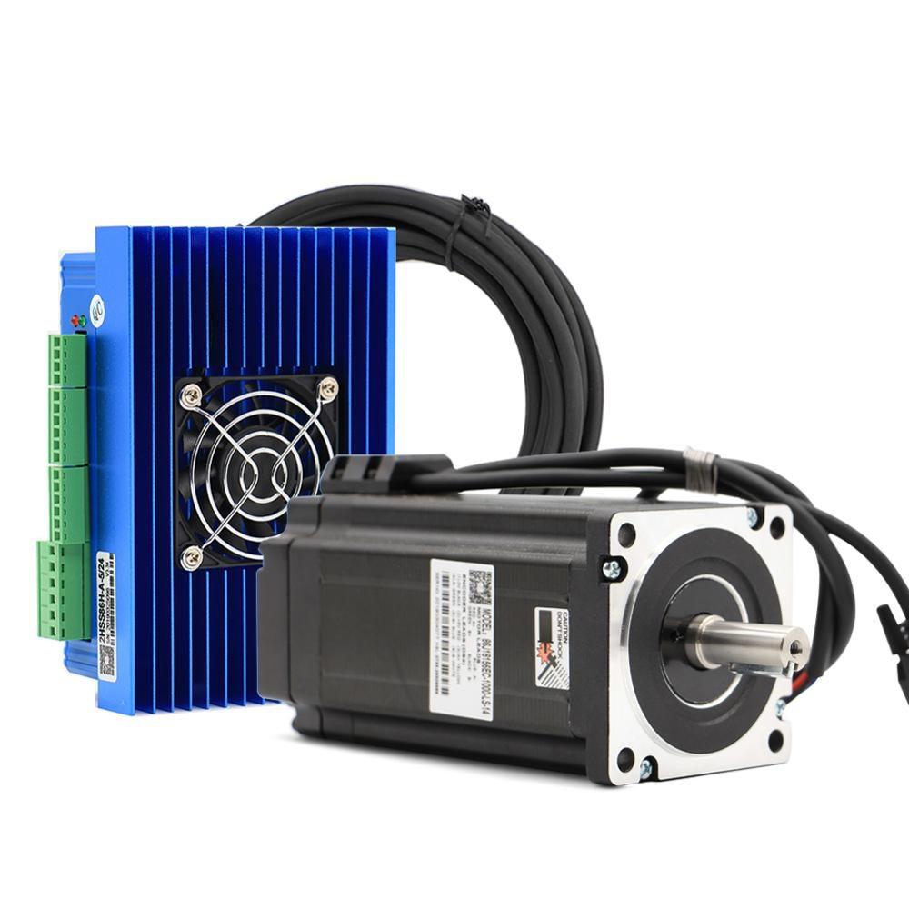 CNC Nema 34 Closed Loop motor 86J18156EC  12N.m  2-phase Hybrid motor driver 2HSS86H DC(40-110V) / AC(60-80V)