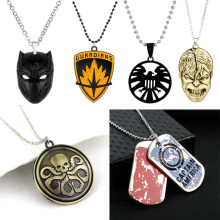 Marvel Avengers Capitan America Black Panther Hulk X-Men Guardiani Della Galassia Agenti di Shield. Collana di Fascino Del Pendente(China)