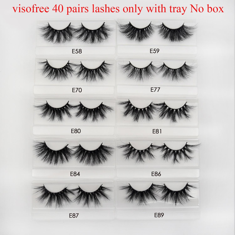 Image 2 - 40pairs Visofree Eyelashes 3D Mink Lashes with Tray No Box 25MM Lashes Mink Eyelashes Dramatic Volume Thick False Eyelashes E89Eyelashes Set   -