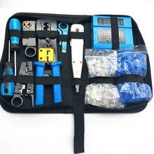 10 Teile/satz RJ45 Crimpen Zangen Tragbare LAN Netzwerk Reparatur Tool Kit Kabel Tester UND Zange Crimp Crimper Clamp