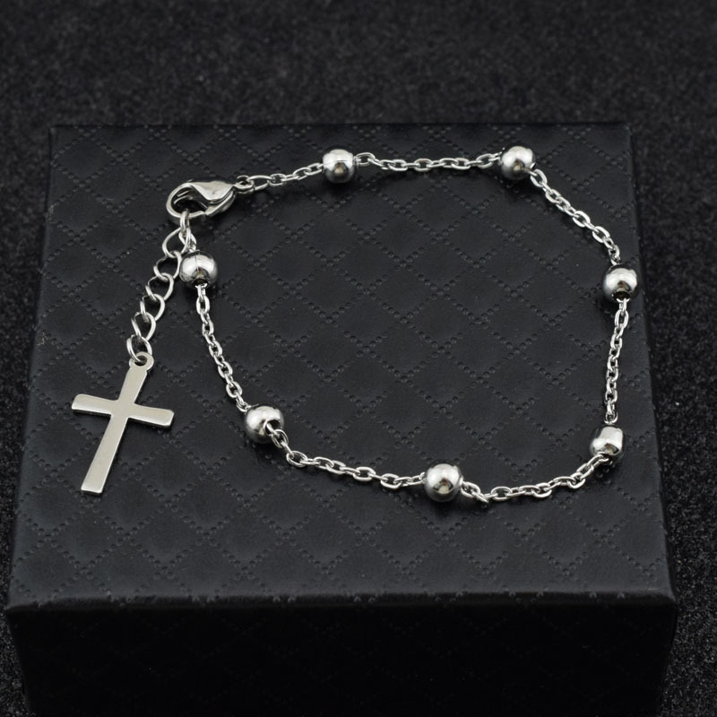 1pcs Kpop Bangtan JIMIN Bracelet Cross Tassel Stainless Steel The Same Style With JIMIN Fashion Bracelet Kpop Bangtan Boys