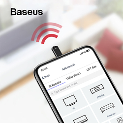 Baseus universal infravermelho controle remoto para iphone xs max xr x 8 ir sem fio inteligente controle remoto para tv aircondition projetor