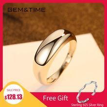 Gem&Time Real 14K Gold Engagement Ring For Women Luxury Genuine 14K Gold 585 Ring Fine Jewelry Promise Gold Ring Wedding Jewelry