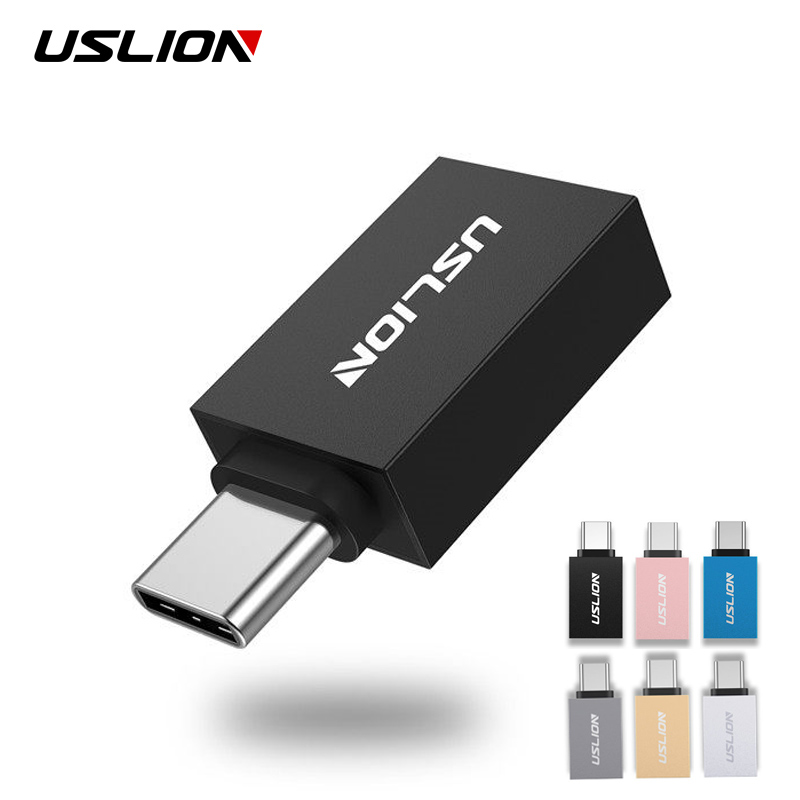 USLION USB Type C To Usb 3.0 Adapter OTG Type C Cable Converter For Samsung Galaxy S8 S9 OTG Adapter Support Data Transmission