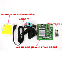 SZDOIT A Complete Set Wifi Control Video Kit With 2/1 High Power Motor Driver Board Large High Power RC Robot Part For Arduino