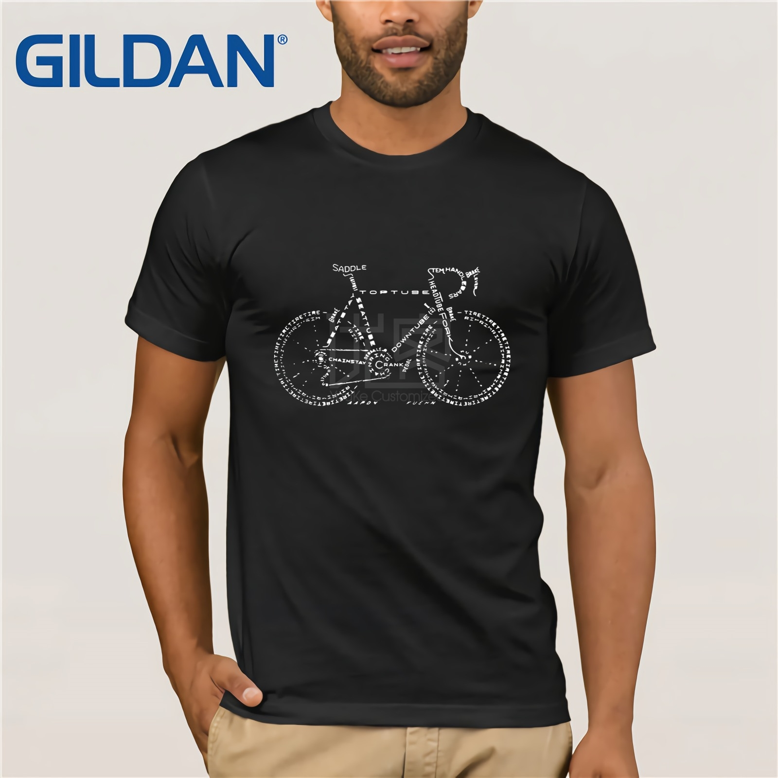 bicycle Mens & Womens Cool Personalized T Shirt Retro Tee