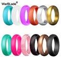 Женские силиконовые кольца WarBLade, эластичные гипоаллергенные кольца из силикона, 5,7 мм, FDA