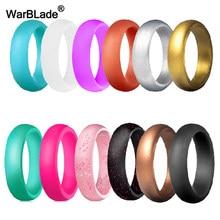 Anel de silicone para mulheres, anel de borracha anti-alérgico 5.7mm de grau alimentar anéis de silicone para casamento