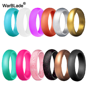 WarBLade 5.7mm Food Grade FDA Silicone Rings For Women Wedding Rubber Bands Hypoallergenic Flexible Silicone Finger Ring