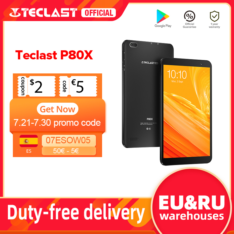 Teclast P80X 8 inch Tablet Android 9.0 4G Phablet SC9863A Octa Core 1280*800 IPS 2GB RAM 32GB ROM Tablet PC Dual Cameras GPS|Tablets| - AliExpress