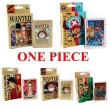 54 unids/set una pieza cifras coleccionables mono D Luffy helicóptero Tarjeta de póquer Roronoa Zoro caja de cartas de juego de niños regalo Juguetes