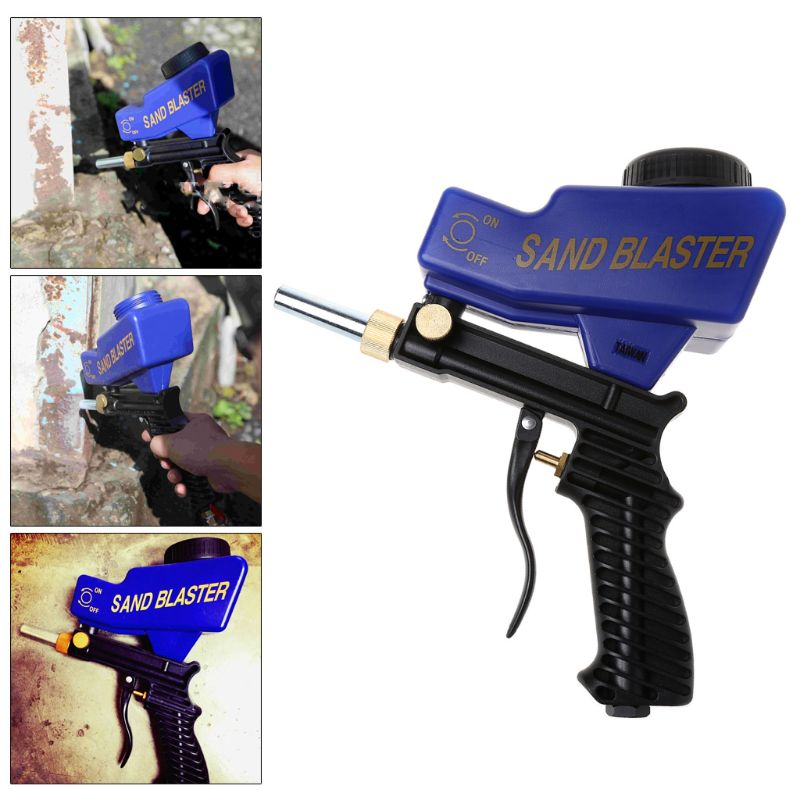 Portable Gravity Sandblasting Gun Machine Abrasive Pneumatic Set Removing Spot Rust Blasting Device