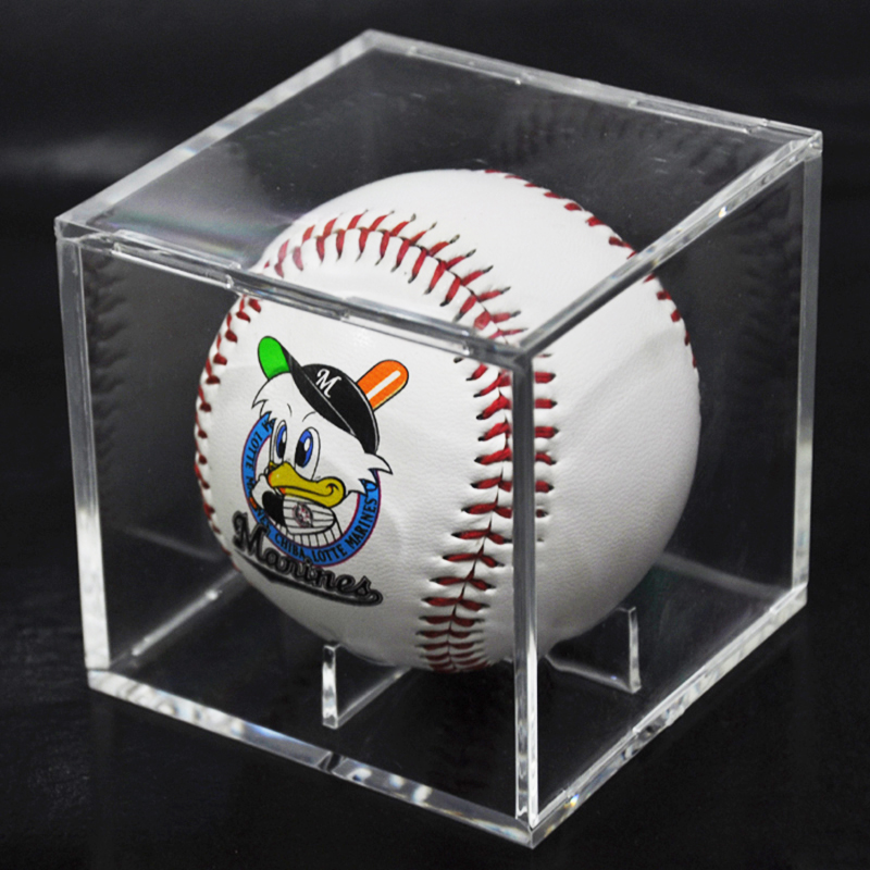 Acrylic 9 Inch Baseball Box Display Golf Tennis Ball Transparent For Souvenir Collection Storage Holder UV Protection Dust-proof