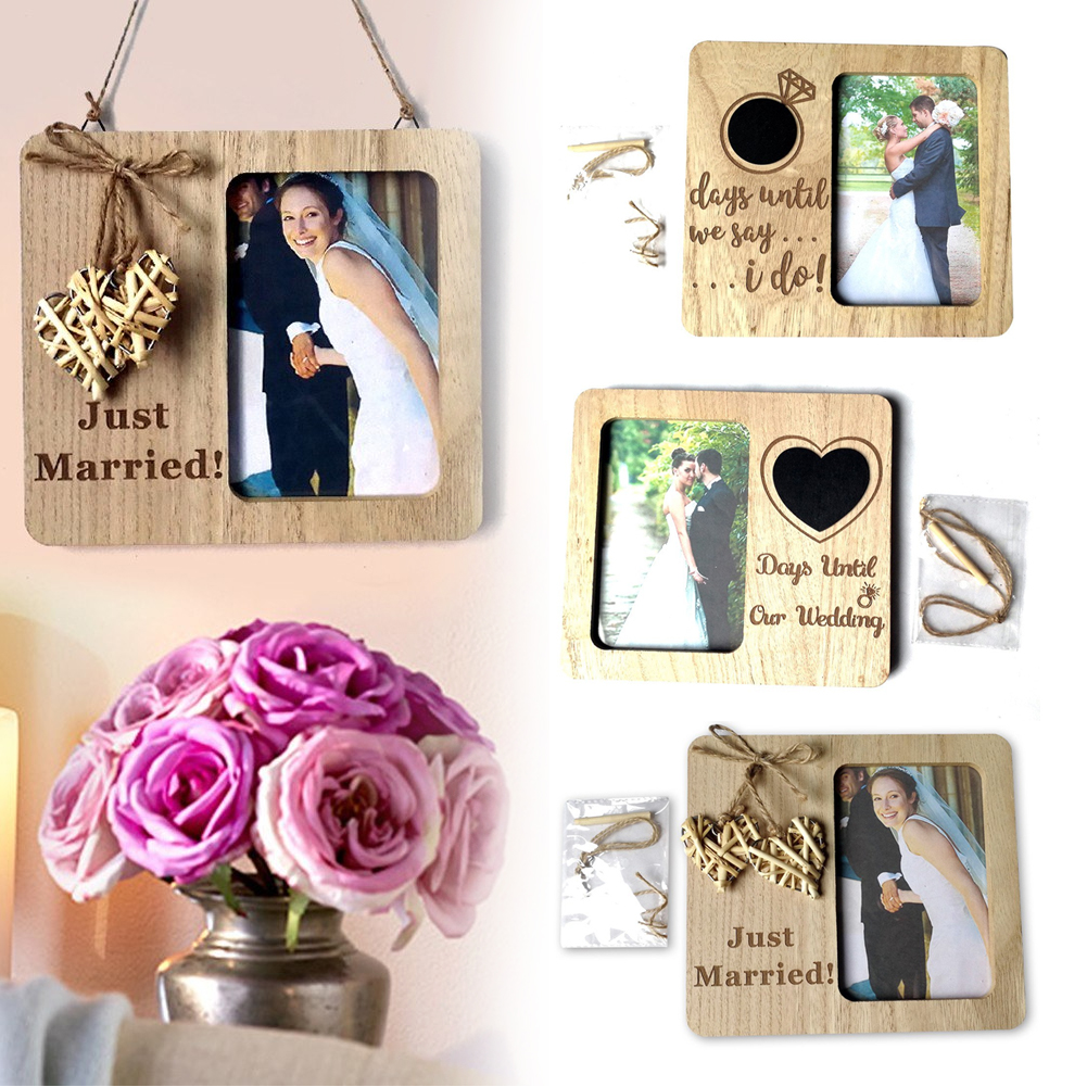 Vintage Effect Retro Photo Frame Poster Home Wedding Couple Picture Frame Couple Picture Frame Resin Photo Frame