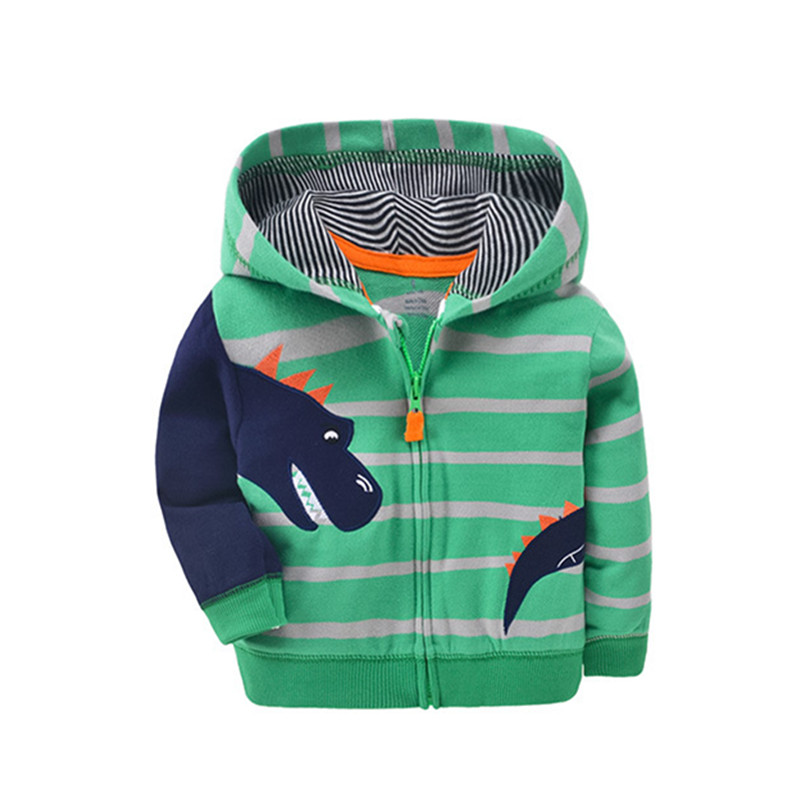 2019 baby boys girls hooded sweatshirts cotton cartoon tops truck flower whale out wear kids clothes for 9m-3years 5