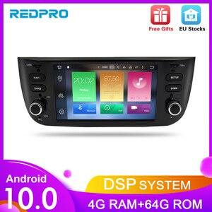 Image 1 - Octa Core Android10.0 Auto Lettore Stereo per Fiat Grande Punto Linea 2012 2017 Multimedia Auto Radio Audio di Navigazione GPS + 4G di RAM