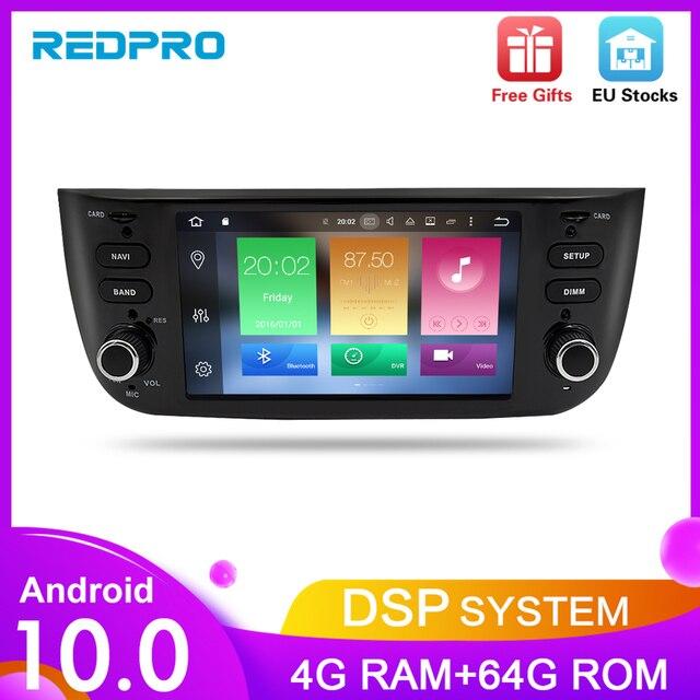 Octa Core Android10.0 Auto Lettore Stereo per Fiat Grande Punto Linea 2012 2017 Multimedia Auto Radio Audio di Navigazione GPS + 4G di RAM