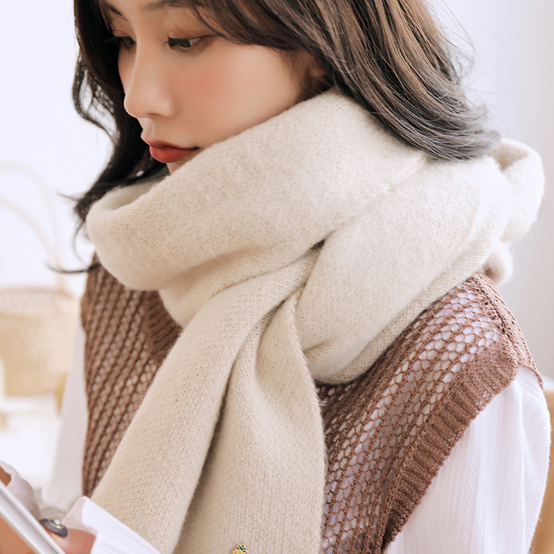 Small Pineapple Scarf Female Winter Long Knitted Thick Warm Wool Scarf Students Wild Cute