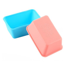 4YANG Bakeware Kitchen Mini Trumpet Rectangular Non-stick Toasted Bread Soap Silicone Decorating Mold For Chocolate Baking Tools