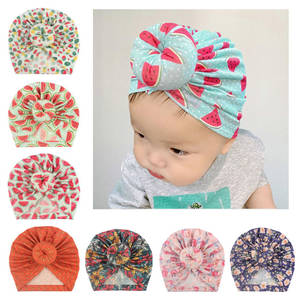 Turban Hat Infant-Accessories Baby-Cap Fruit Toddler Cotton New Floral Print Donut 1PC
