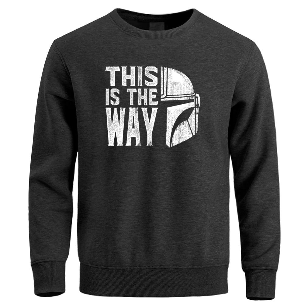 This Is The Way Mandalorian Sweatshirts Men Hoodies Star Wars Baby Yoda Male Sweatshirt Man The Child Starwars Darth Hoodie
