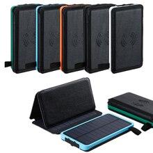 Chargeur de téléphone sans fil Qi batterie dalimentation solaire étanche 8000mah batterie externe chargeur rapide pour Xiaomi Mi