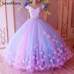 Spitze Kristalle 2019 Blume Mädchen Kleider Hand Made Blumen Kleines Mädchen Kleider Vintage Kind Party Pageant Kleid