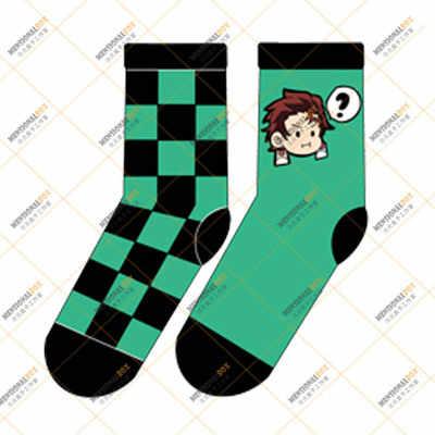Новинка, демонический убийца, Kimetsu no Yaiba Hashibira Inosuke, косплей, реквизит, носки Agatsuma Zenitsu, женские и мужские хлопковые носки, чулки
