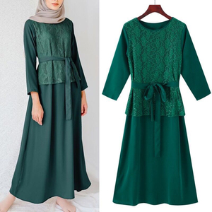 abaya dubai 2020 New Muslim Fashion Hijab Dress Abayas For Women  Islam Clothing Kaftan Robe vestidos de roupa americana