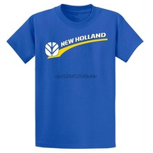 Mode Neue Holland Blau Grafik T-shirt(China)