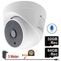 JIENUO Home Camera Wifi 1080P 720P HD 64G 32G Audio Night Vision CCTV Security Surveillance Dome HD Network Wireless IP Camera