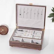 Шкатулка для ювелирных изделий из китайского ореха коробка хранения