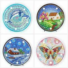 Huacan 5D Diamond Painting 2019 New LED Lamp Light Butterfly Diamond Mosaic Light Diamond Embroidery Christmas Decoration