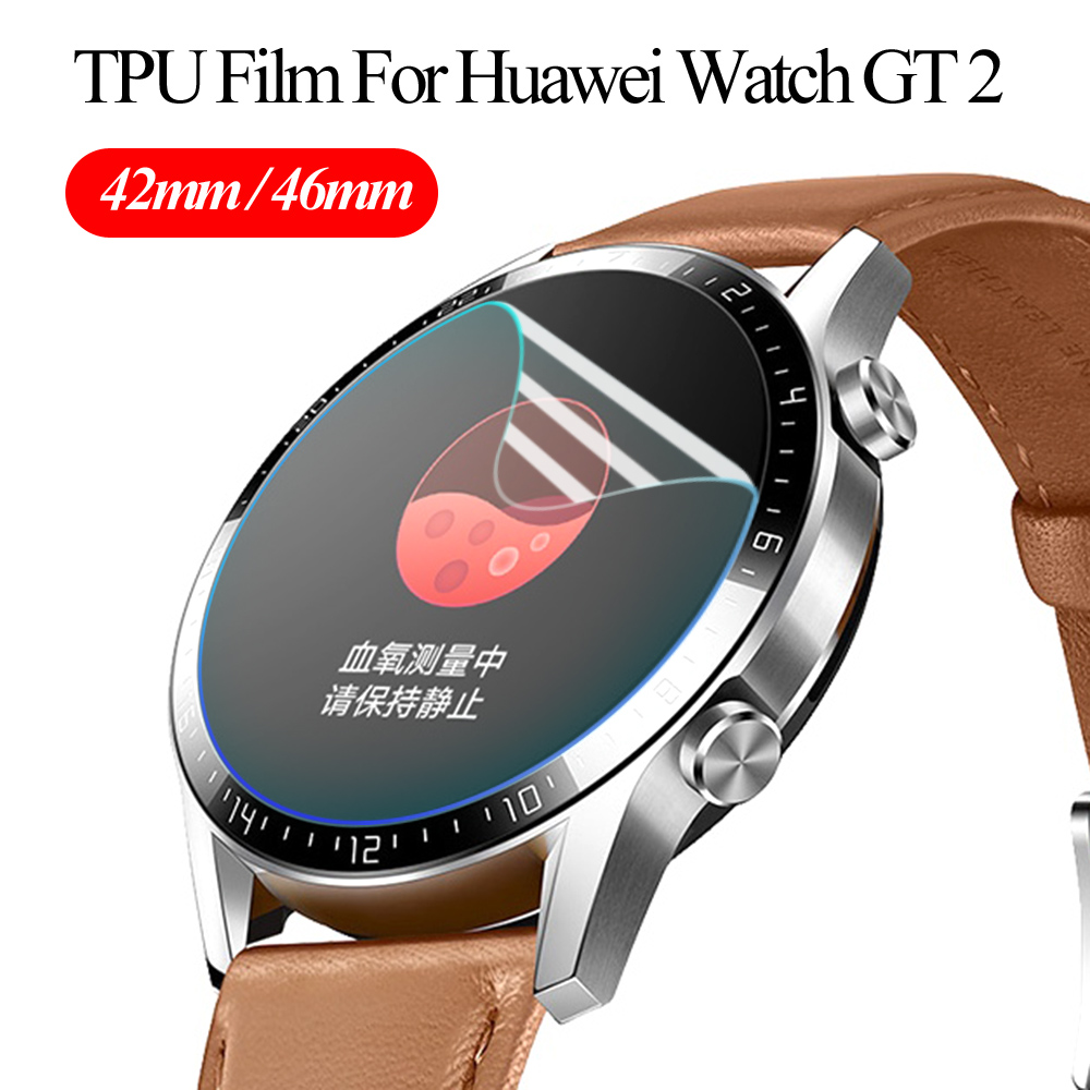 Protetor de tela clara cobertura completa película protetora para o relógio huawei gt 2 tpu macio hydroge película protetora 42mm 46mm