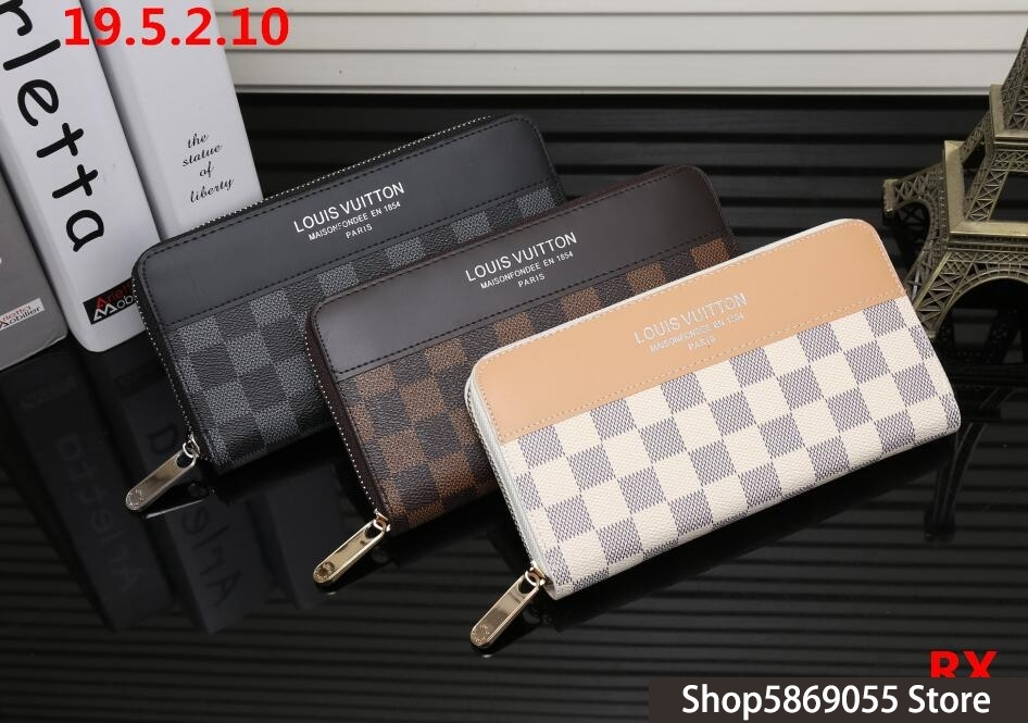 Luxury Louis Vuitton LV- Men Women Wallets Fashion Long Leather Top Quality Card Holder Classic Female Purse Brand Wallet L36