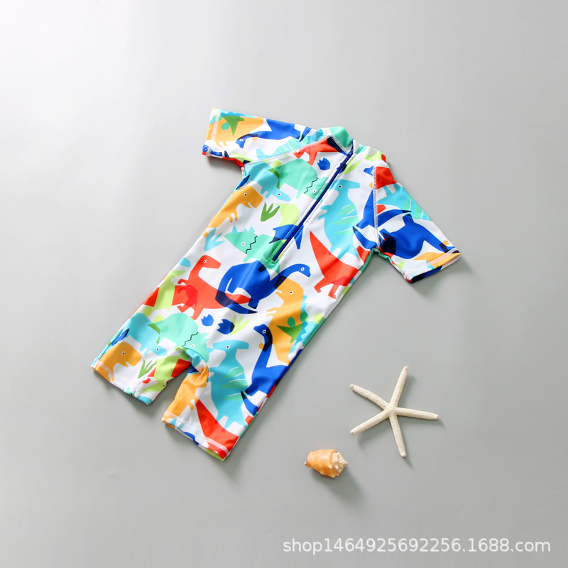 2019 New Style Baby Bathing Suit 1-12-Year-Old Children Two-piece Swimsuits Big Boy Korean-style Boy Swimwear
