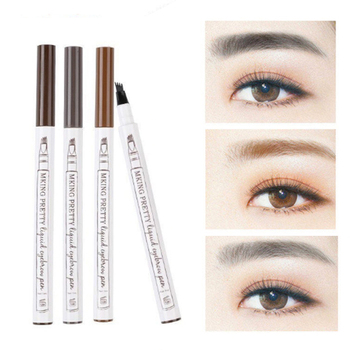 MKING PRETTY 4 Point Eyebrow Pen Easy To Color Four-headed Eyebrow Pencil Fine-grained Waterproof Liquid Eye brow Pencil TSLM1 image