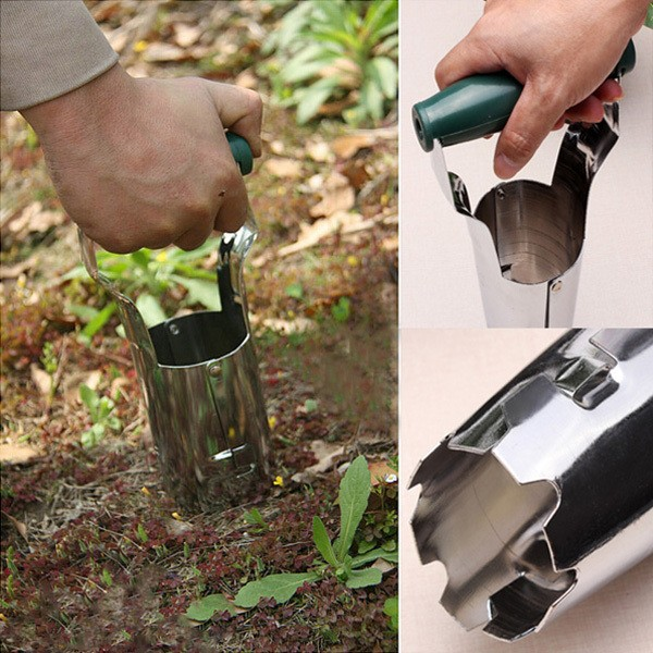 High Quality Carbon Steel Agricultural Transplanting Seedlings Tools Garden Transplanter Color Random